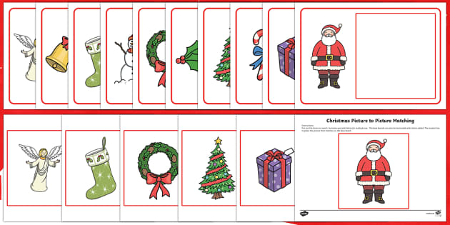 Workstation Pack: Christmas Picture to Picture Matching Activity Pack