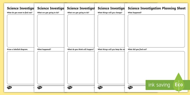 Science Investigation Planning Sheets - scientific investigation, science experiment worksheet, science experiment planning sheet, ks2 science worksheet