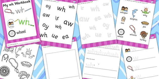 Phase 5 wh Grapheme Workbook - phase five, graphemes, literacy