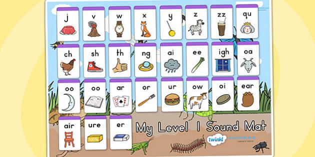 Minibeasts Level One Sound Mat - sounds, sounds mat, level 1