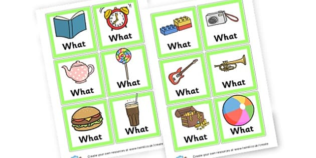 what cards - Question Words Primary Resources, question, interrogative, words