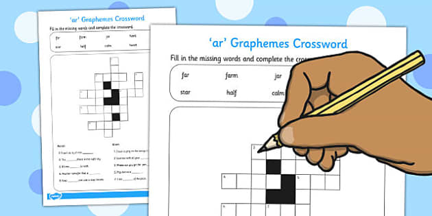 ar Graphemes Crossword - ar, graphemes crossword, crossword