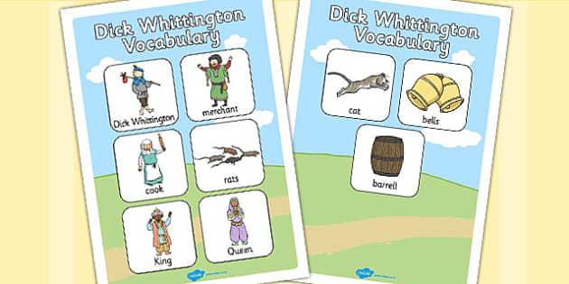 Dick Whittington Vocabulary Poster - posters, displays, display