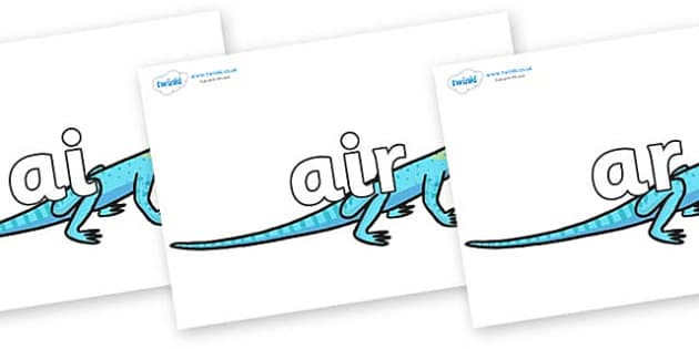 Phase 3 Phonemes on Lizards - Phonemes, phoneme, Phase 3, Phase three, Foundation, Literacy, Letters and Sounds, DfES, display