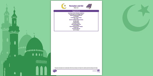 EYFS Eid Book List