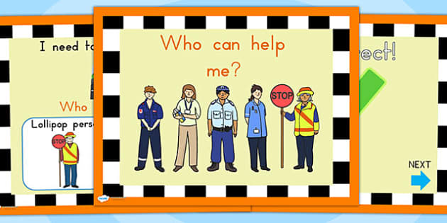 Who Can Help Me Interactive PowerPoint - people who help us, ppt