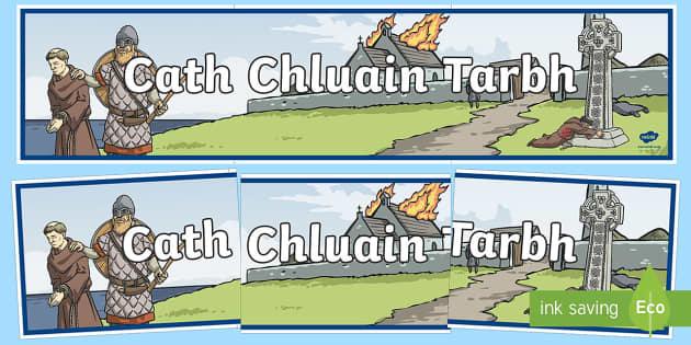 Cath Chluain Tarbh Display Banner-Irish