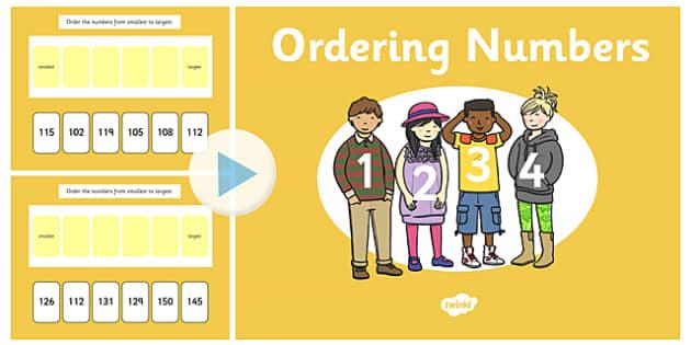 Ordering 3 Digit Numbers Notebook - ordering, digit, numbers