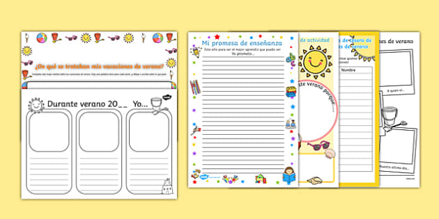 KS1 First Day Back Activity Pack Spanish - spanish, holidays, summer, back to school, new class, new year, return, holiday, break, first day, 1st day