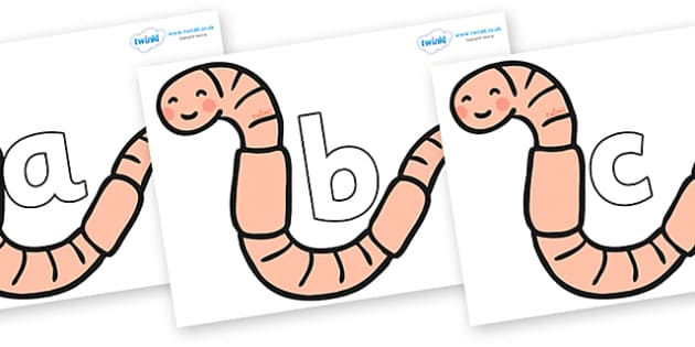 Phoneme Set on Earthworms - Phoneme set, phonemes, phoneme, Letters and Sounds, DfES, display, Phase 1, Phase 2, Phase 3, Phase 5, Foundation, Literacy