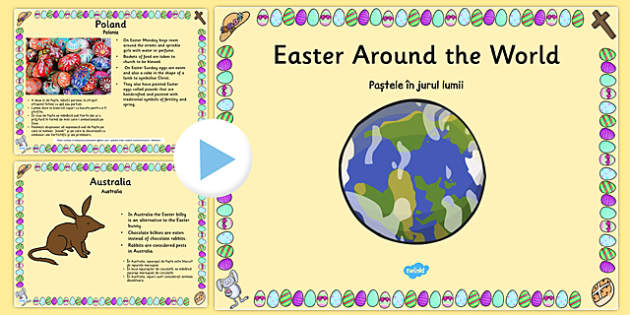 Easter Around the World PowerPoint Romanian Translation - romanian, easter, religion, RE, ppt
