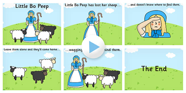 Little Bo Peep PowerPoint - little bo peep, little bo peep presentation, little bo peep powerpoint presentation, little bo peep sing along, nursery rhyme