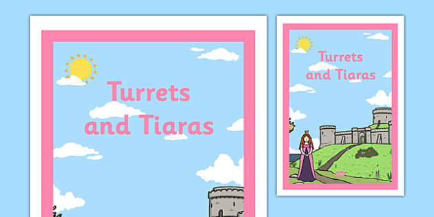Turrets and Tiaras Book Cover - turrets, tiaras, book cover, book, cover