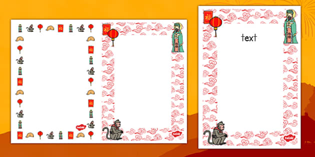 Editable Chinese New Year Card Insert Template - editable, chinese new year, card insert, card, insert, template
