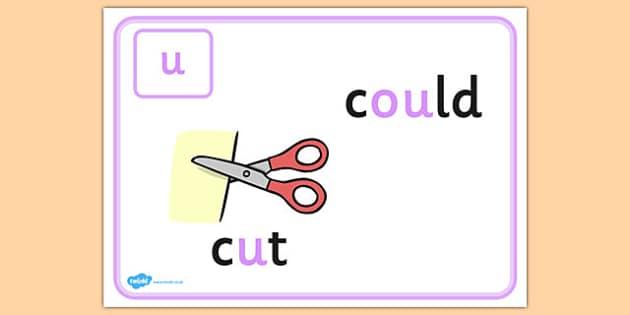 Alternative Spellings for u Display Poster - alternative spellings for oo, display poster, oo display poster, alternative spelling for oo poster