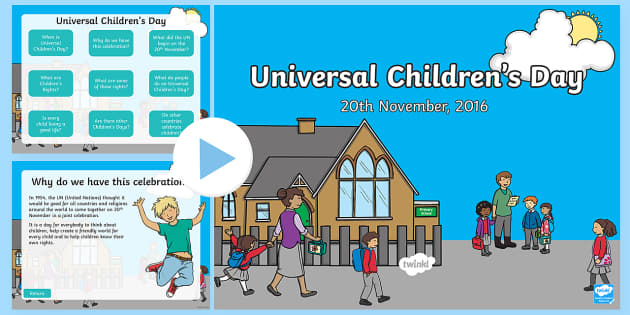 KS1 Universal Children's Day PowerPoint