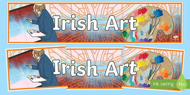 Irish Art Display Banner