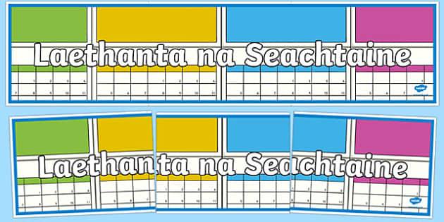 Laethanta na Seachtaine Display Banner