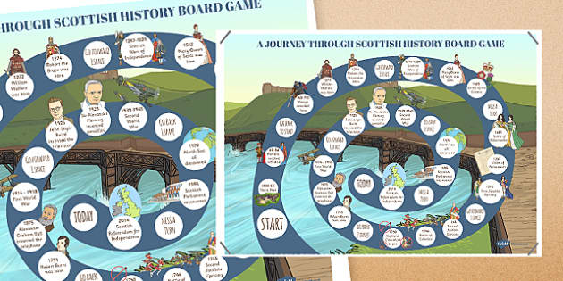 Journey Through Scottish History Board Game - journey, scottish, history, board game