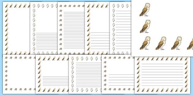 Owl Page Borders - owl, page borders, page, borders, owls, story