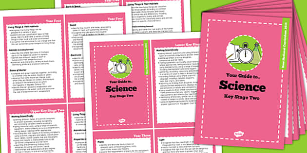 2014 Curriculum Cards KS2 Science - new curriculum, planning