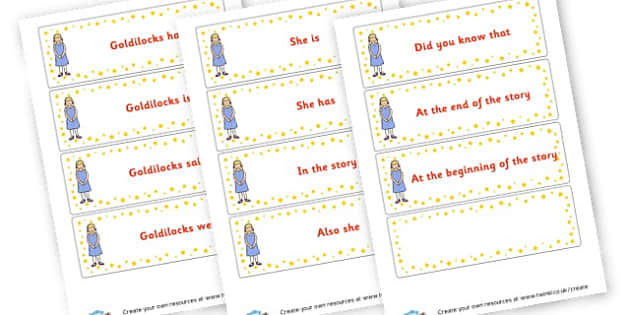 Goldilocks Character Description Labels - Goldilocks and the Three Bears Activities Primary Resources, Bears