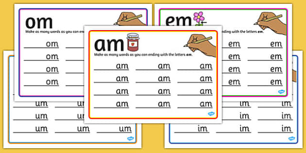 m Rime Mats - rime, cards, rhyme, words, activity, word, card, m