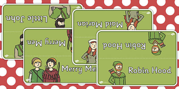 Robin Hood Group Table Signs - robin hood, table, signs, robin