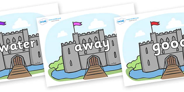 Next 200 Common Words on Castles - Next 200 Common Words on  - DfES Letters and Sounds, Letters and Sounds, Letters and sounds words, Common words, 200 common words