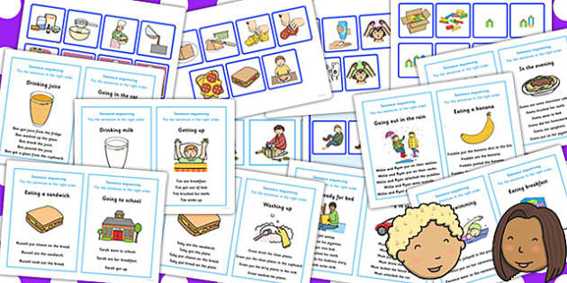 SEN Sequencing Cards Resource Pack - sen, resource, pack, cards