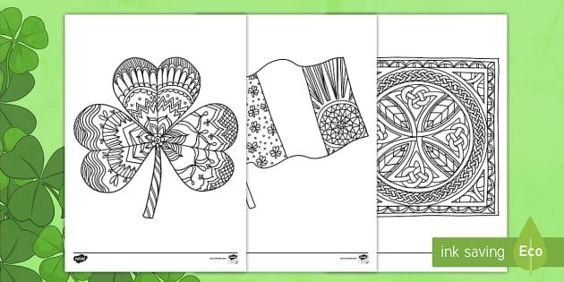 St Patrick's Day Shamrock Mindfulness Colouring Sheet - Mindfulness Colouring, St Patrick's Day, Saint Patrick's Day