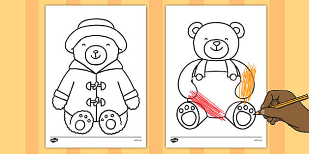 Teddy Bear Outline Sheets - teddy bear, outline, sheets, teddy, bear