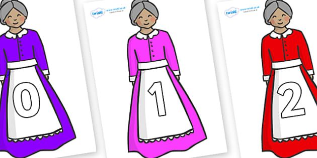 Numbers 0-100 on Old Mother Hubbard - 0-100, foundation stage numeracy, Number recognition, Number flashcards, counting, number frieze, Display numbers, number posters
