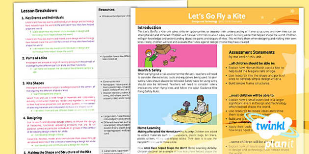 PlanIt - DT LKS2 - Let's Go Fly a Kite Planning Overview - planit, dt, unit