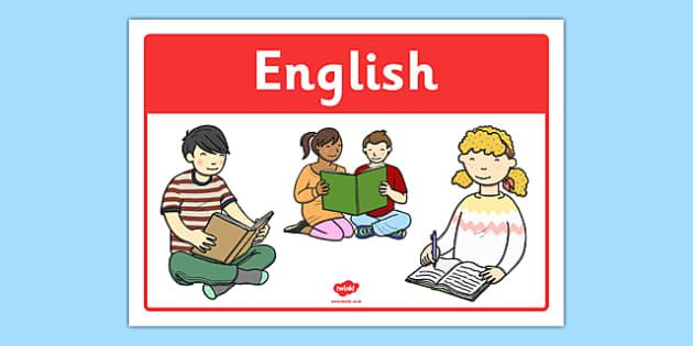 English Classroom Area Sign - roi, irish, republic of ireland, english, classroom, area, sign