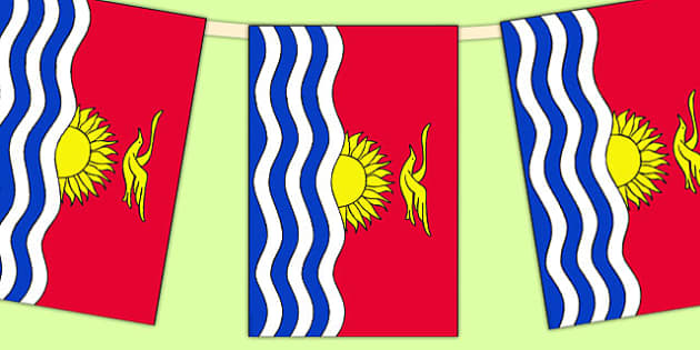 Kiribati Flag Display Bunting - countries, geography, flags