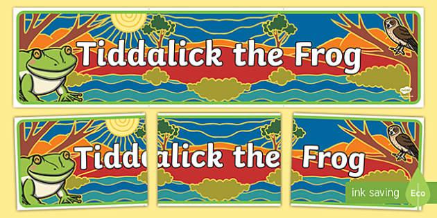 Tiddalick The Frog Display Banner-Australia