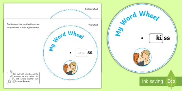 Phonics Digraph Word Wheel ss - word wheel, ss word wheel, ss words, ss word aids, phonics word wheel, phonics words ss, my word wheel, letters and sounds