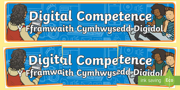Digital Competence Bilingual Display Banner