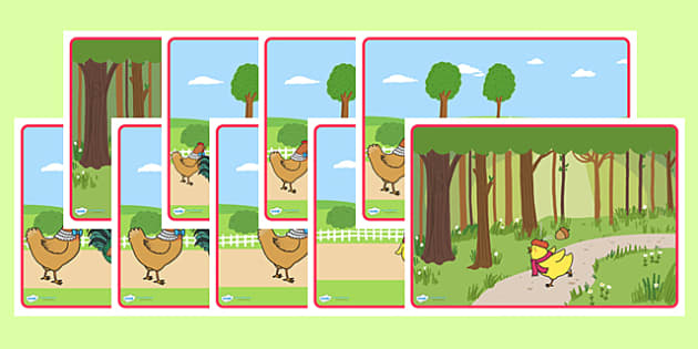 Chicken Licken Short Story Sequencing - story sequence, stories