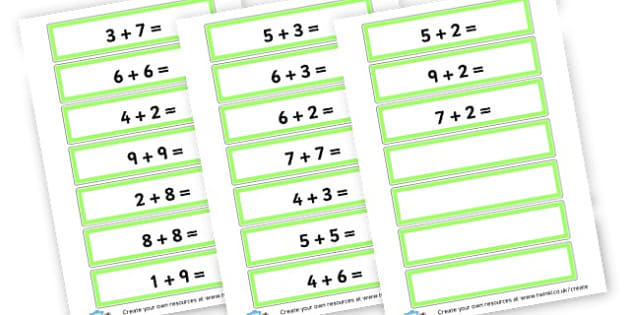 Additon Cards - Calculation Primary Resources, maths, add, subtract, calculation