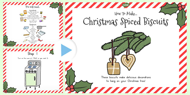 Christmas Spiced Biscuit Recipe PowerPoint - australia, christmas