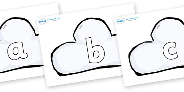 Phoneme Set on Weather Symbols (Cloud) - Phoneme set, phonemes, phoneme, Letters and Sounds, DfES, display, Phase 1, Phase 2, Phase 3, Phase 5, Foundation, Literacy