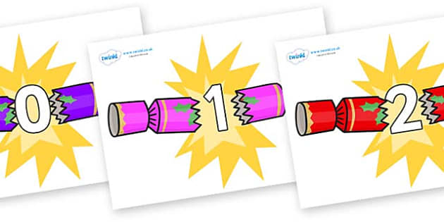 Numbers 0-31 on Christmas Crackers (Cracking) - 0-31, foundation stage numeracy, Number recognition, Number flashcards, counting, number frieze, Display numbers, number posters