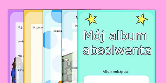 Scapbook Album absolwentów szkoły podstawowej po polsku