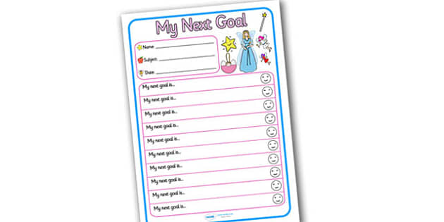 Themed Target and Achievement Sheets Fairies Themed My Next Goal - Target and Achievement Sheet, My Next Goal Sheet, Target Sheet, Fairy Themed