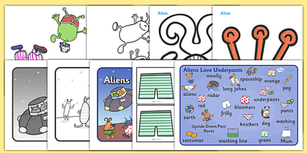 Story Sack Resource Pack to Support Teaching on Aliens Love Underpants - story sack, story books, story book sack, stories, story telling, childrens story books, traditional tales
