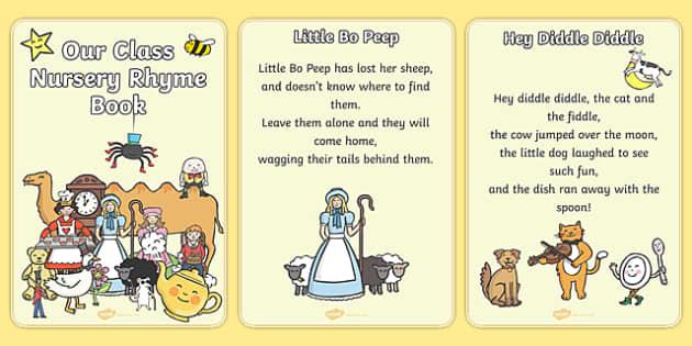 Our Class Nursery Rhyme Book - nursery rhyme, book, all nursery rhymes, rhyme, rhyming, nursery rhyme story, nursery rhymes, display, banner