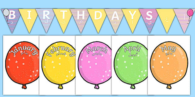 Balloon-Themed Birthday Display Pack Arabic Translation - arabic, birthday, display, pack