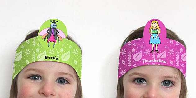 Thumbelina Role Play Headband - stories, story books, roleplay